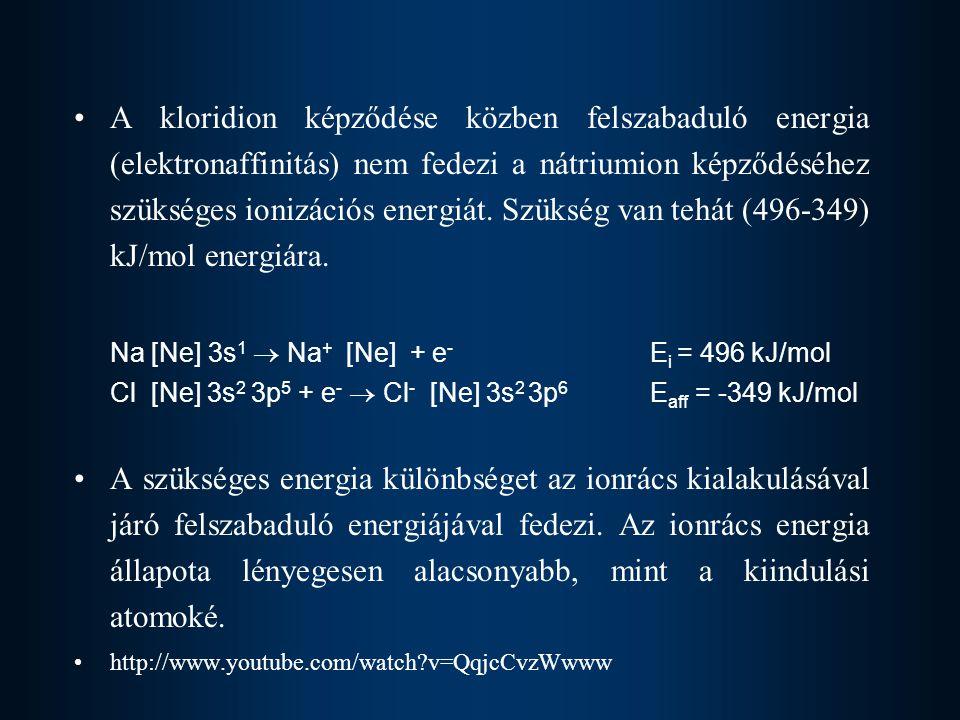 Na [Ne] 3s1  Na+ [Ne] + e- Ei = 496 kJ/mol